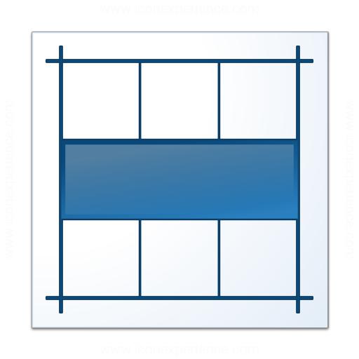 Layout Horizontal Icon