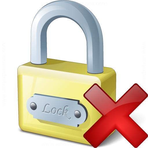 Lock Delete Icon