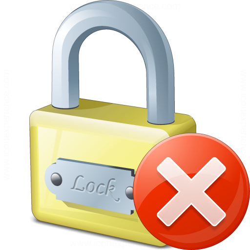 Lock Error Icon