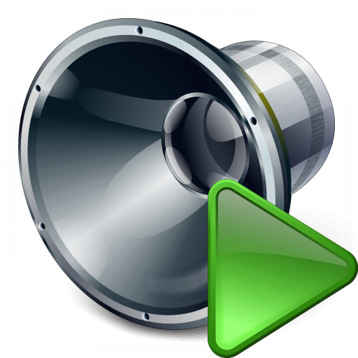 Loudspeaker Run Icon