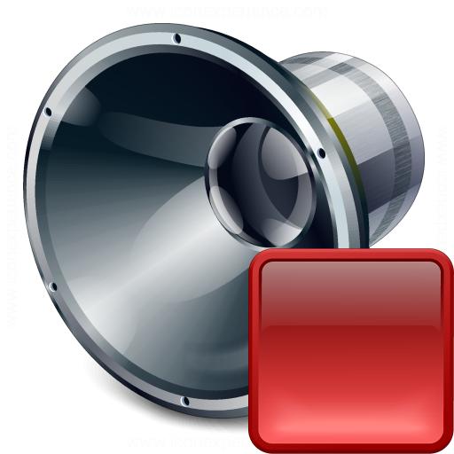 Loudspeaker Stop Icon