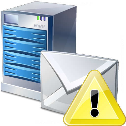 Mail Server Warning Icon