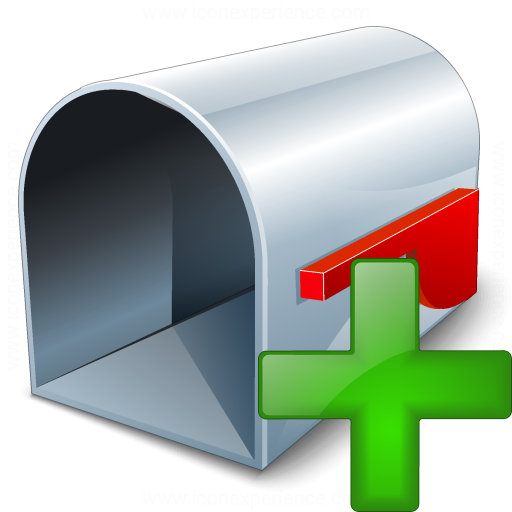 Mailbox Empty Add Icon