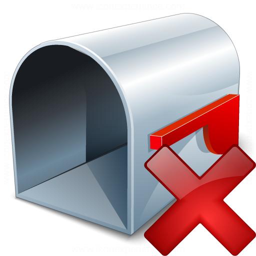 Mailbox Empty Delete Icon