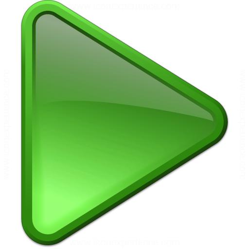 Media Play Green Icon