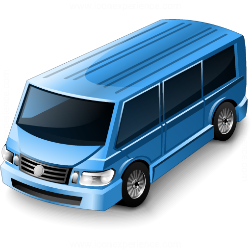 Minibus Blue Icon