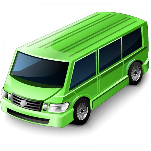 Minibus Green Icon