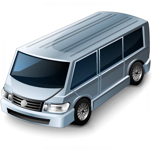 Minibus Grey Icon