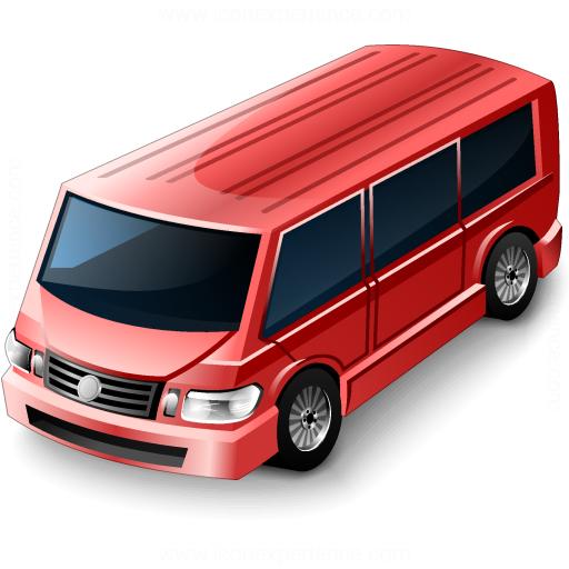 Minibus Red Icon