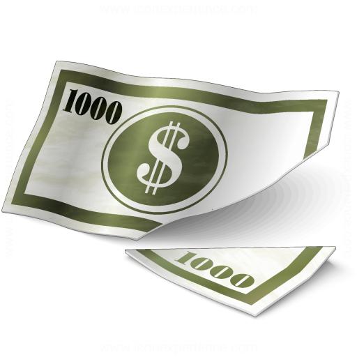 Money Bill Cut Icon