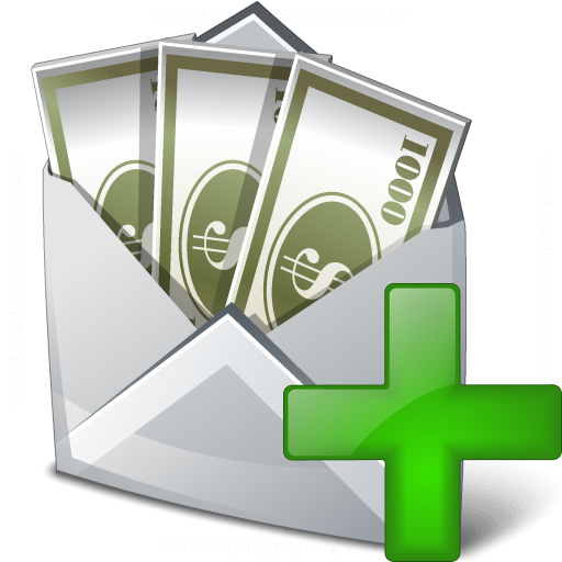Money Envelope Add Icon