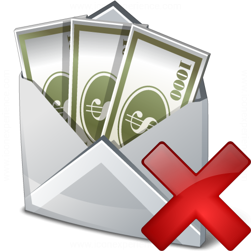 Money Envelope Delete Icon