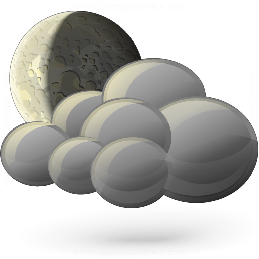 Moon Cloud Icon