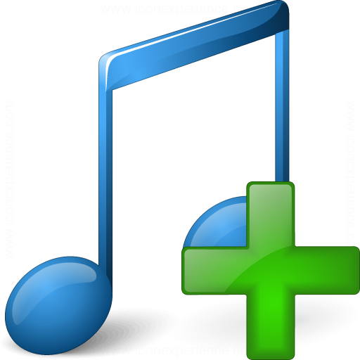 Music Blue Add Icon