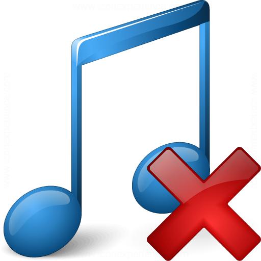 Music Blue Delete Icon
