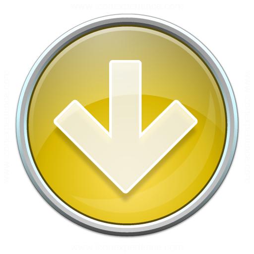 Nav Down Yellow Icon