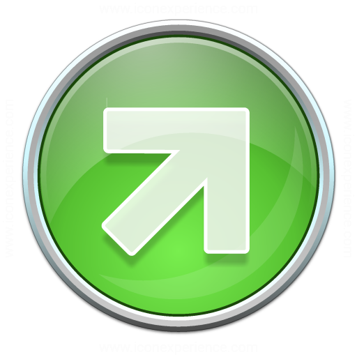 Nav Up Right Green Icon