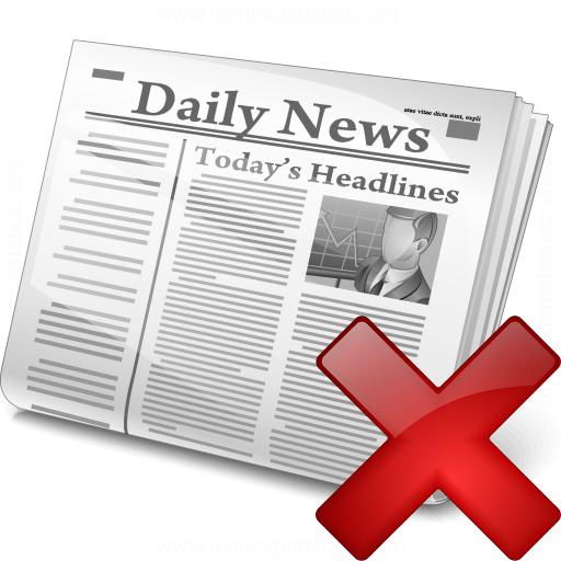 Newspaper Delete Icon