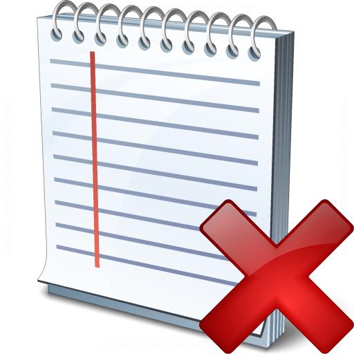 Notebook Delete Icon