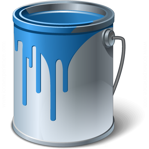 Paint Bucket Blue Icon
