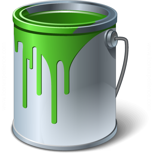 Paint Bucket Green Icon