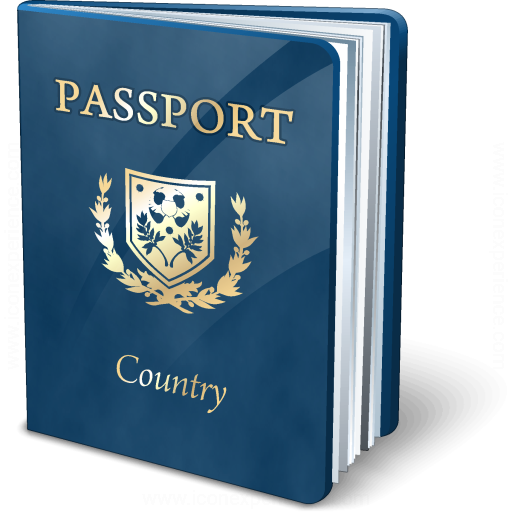Passport Blue Icon