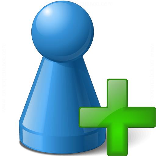 Pawn Blue Add Icon