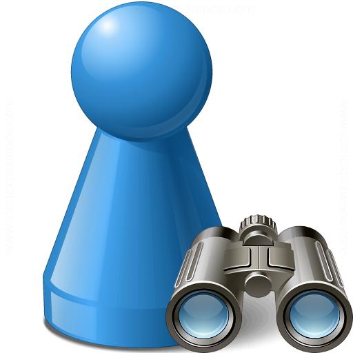 Pawn Blue Find Icon