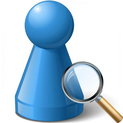 Pawn Blue View Icon