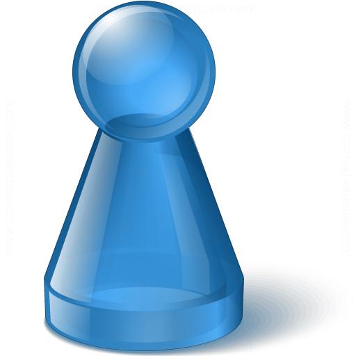 Pawn Glass Blue Icon