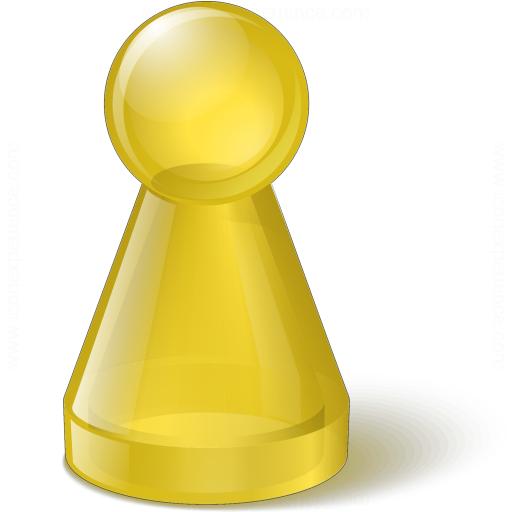 Pawn Glass Yellow Icon