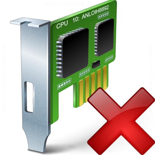 Pci Card Delete Icon