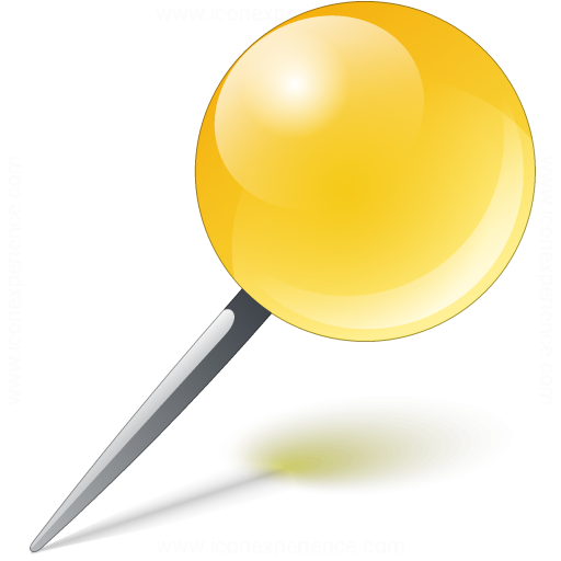 Pin Yellow Icon