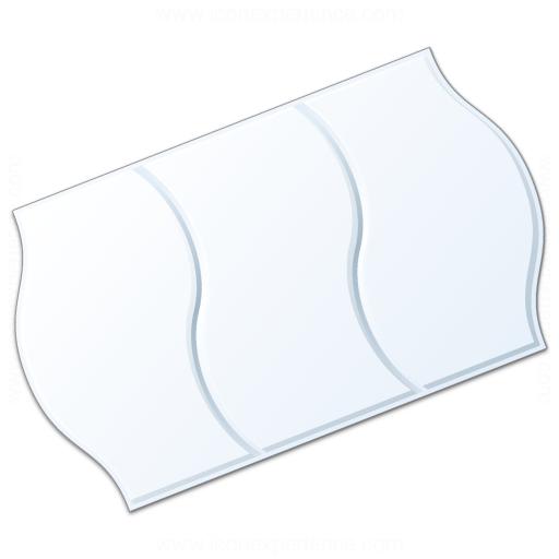 Price Sticker White Icon