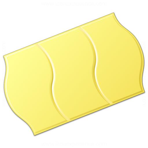 Price Sticker Yellow Icon