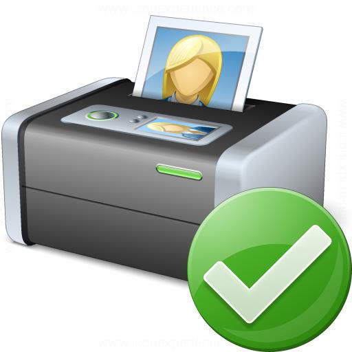 Printer 3 Ok Icon