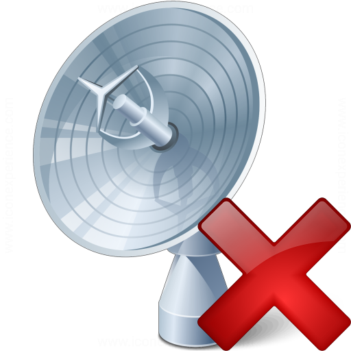 Satellite Dish Delete Icon