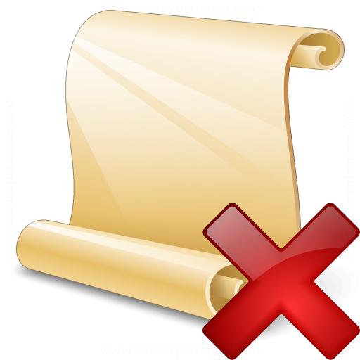 Scroll 2 Delete Icon