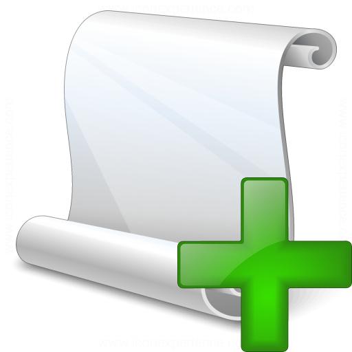 Scroll Add Icon