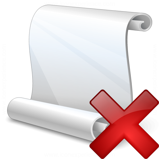 Scroll Delete Icon