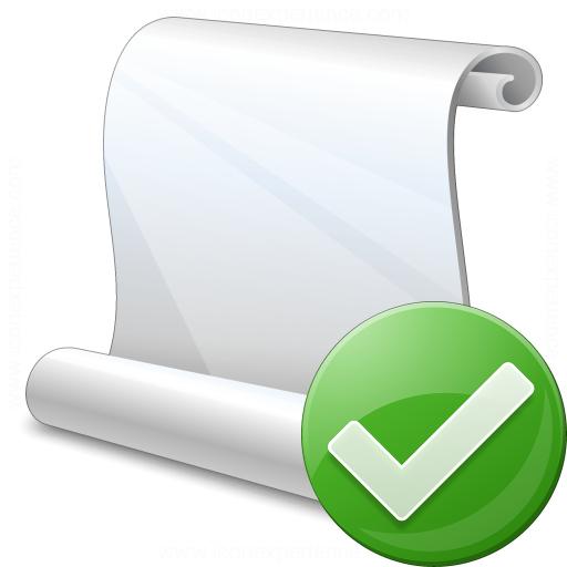 Scroll Ok Icon