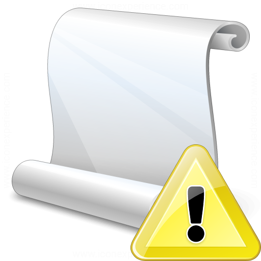 Scroll Warning Icon