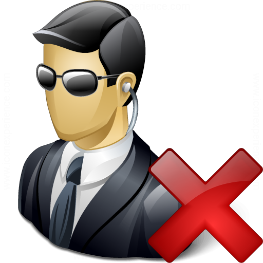 Security Agent Delete Icon