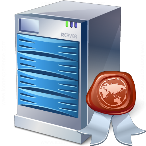 IconExperience » V-Collection » Server Certificate Icon