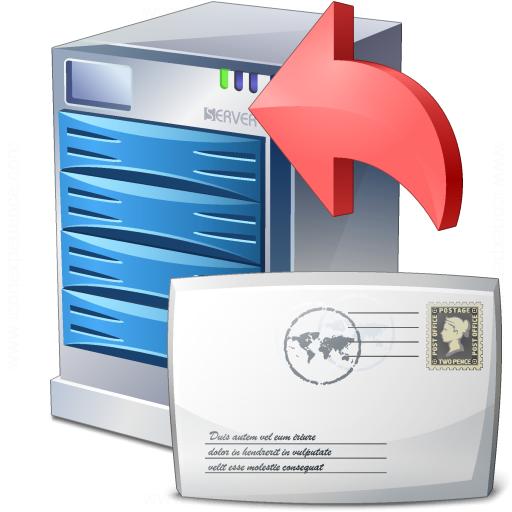 Server Mail Upload Icon