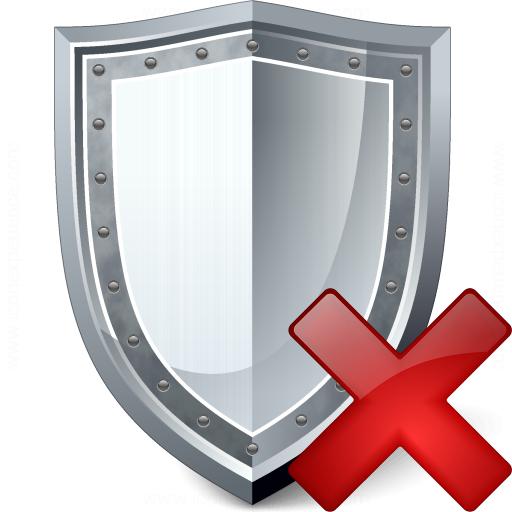 Shield Delete Icon
