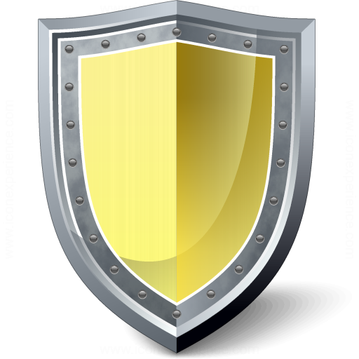Shield Yellow Icon
