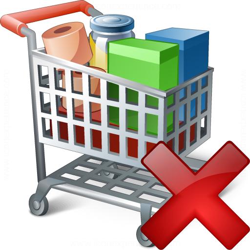 Shopping Cart Delete Icon