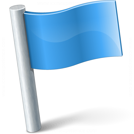 Signal Flag Blue Icon