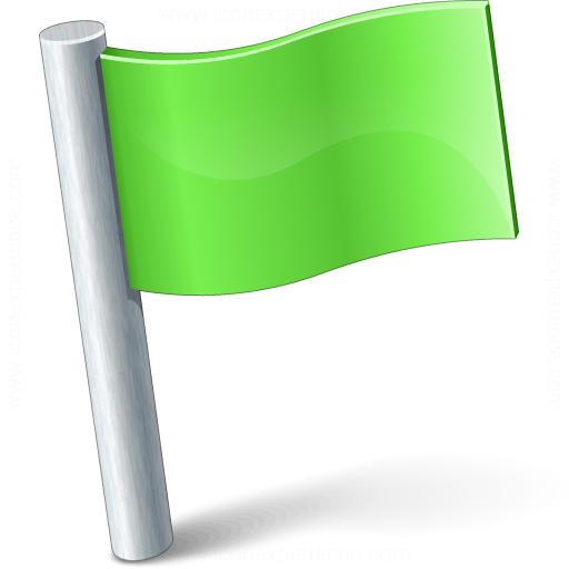 Signal Flag Green Icon